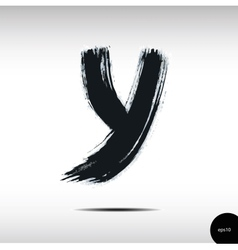 Calligraphic watercolor letter Y vector