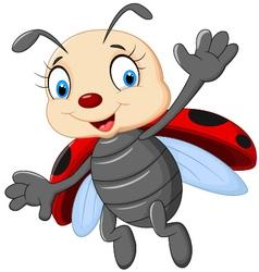 Cartoon ladybug vector