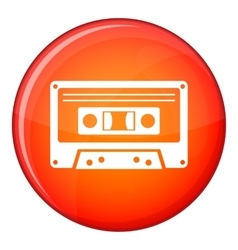 Cassette tape icon flat style vector image