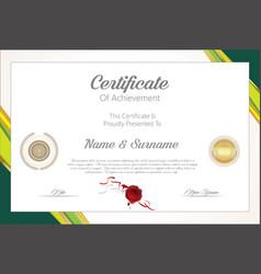 Certificate or diploma modern design template 6308 vector