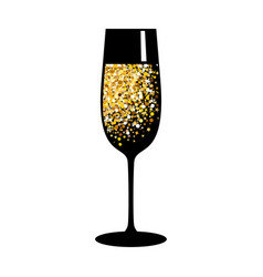 champagne gold black glass vector image