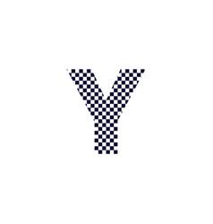 Checker pattern logo letter y vector