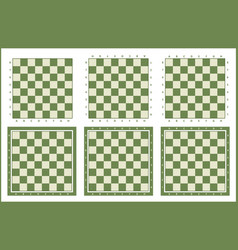 Chessboard set chess table background vector