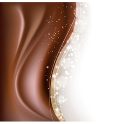 Chocolate brown background vector