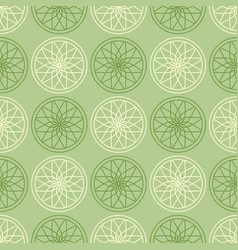 Circular gothic pattern vector