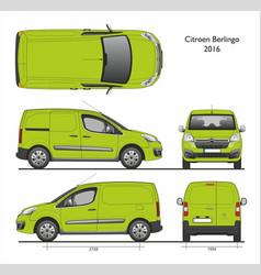 Citroen berlingo l1 2016 professional cargo van vector