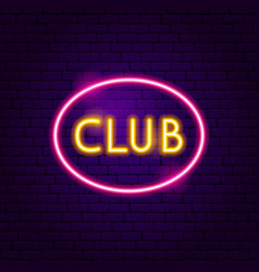 club neon label vector image