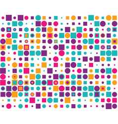 colorful squares and circles vector image