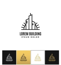Commercial real estate logo icon vector