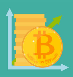 Cryptocurrency technology bitcoin exchange vector