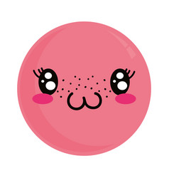 cute kawaii lovely emoticon vector image
