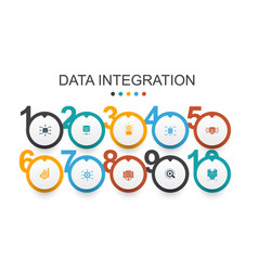 data integration infographic design template vector image