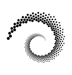 design spiral dots backdrop vector image