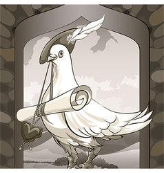 Dove messenger vector