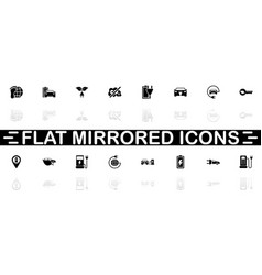 electro car - flat icons vector image