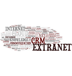 Extranet word cloud concept vector