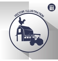 Farm icon design vector image