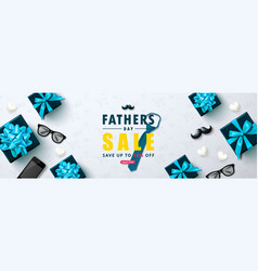 father s day sale template banner with tie vector image