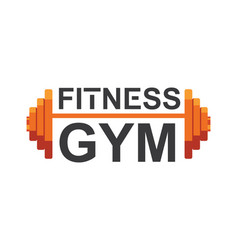 fitness gym logo sign bodybuilding club vector image