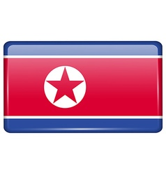 Flags Korea North in the form of a magnet on vector