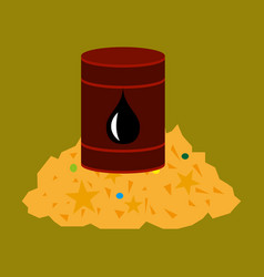Flat icon on theme arabic business oil and gold vector