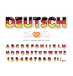 germany cartoon font german national flag colors vector image