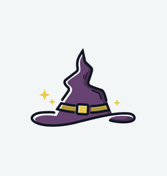 halloween witch hat icon isolated logo template vector image