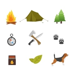 Hunting symbols set vector image
