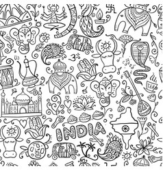 indian lifestyle seamless pattern for your design vector image
