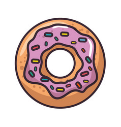 Isolated cute doughnut vector