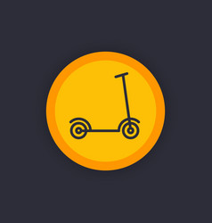Kick scooter linear icon vector