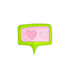 like in social networks like and heart icons for vector image
