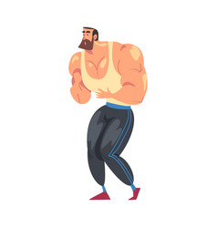 Male personal trainer instructor character vector