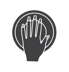 Manicure bowl glyph icon vector