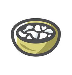 meat dumplings food icon cartoon vector image