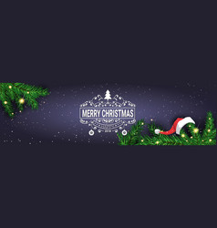 Merry christmas message on horizontal banner vector