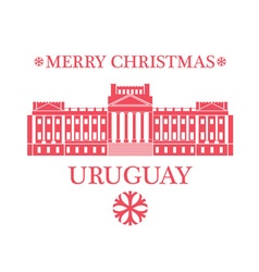 Merry Christmas Uruguay vector image