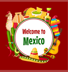 mexican poster cinco de mayo 5 may holiday vector image