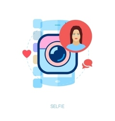 Mobile photo and selfie Instant smartphone online vector image