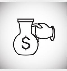 Money cash carafe thin line on white background vector