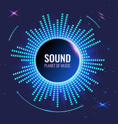 Music abstract background planet sound bright vector