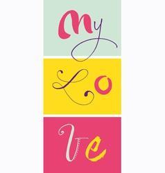 My Love vector
