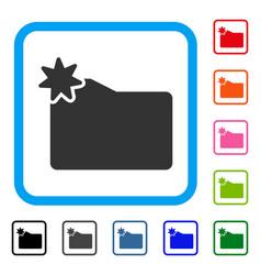new folder framed icon vector image