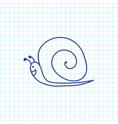 of zoo symbol on snail doodle vector image