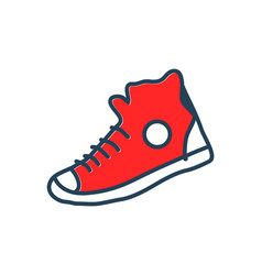 Popular converse rock wardrobe element ilustration vector