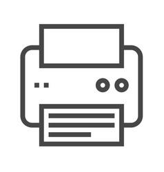 printer thin line icon vector image