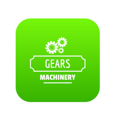 process machinery icon green vector image