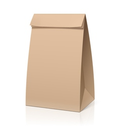 Recycle brown paper bag vector