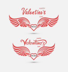 Red heart and hand embracevalentines romantic vector