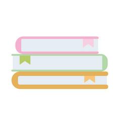 school stack books isolated icon design vector image